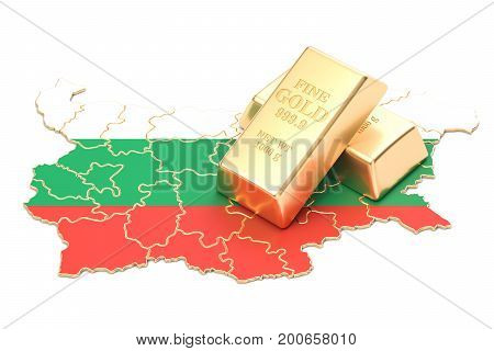 Foreign-exchange reserves of Bulgaria concept 3D rendering isolated on white background