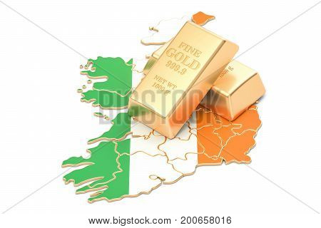 Foreign-exchange reserves of Ireland concept 3D rendering isolated on white background