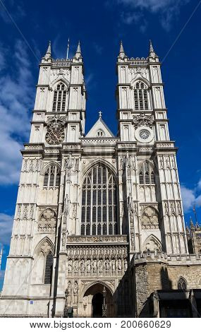 Westminster abbey in a sunny day.London, United Kingdom.