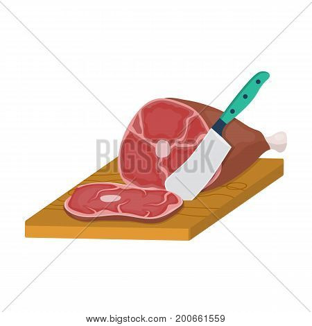 meat single icon in cartoon style.Meat vector symbol stock illustration .