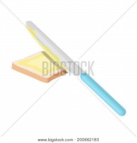 Sandwich with butter. Food single icon in cartoon style vector symbol stock illustration .