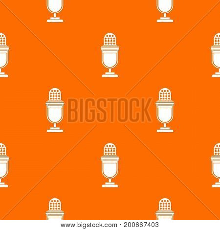 Lighting equipment pattern repeat seamless in orange color for any design. Vector geometric illustration