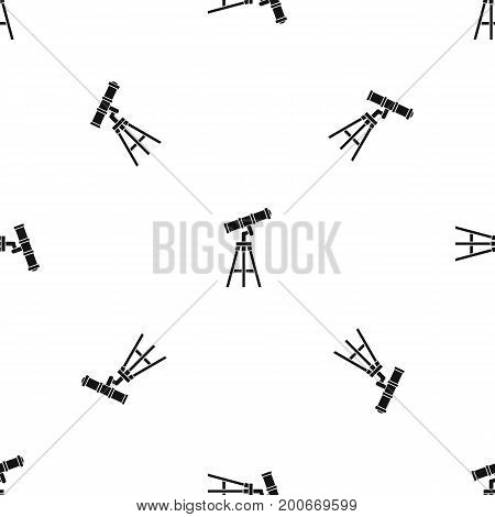 Telescope pattern repeat seamless in black color for any design. Vector geometric illustration