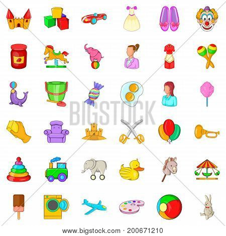 Baby sitter icons set. Cartoon style of 36 baby sitter vector icons for web isolated on white background