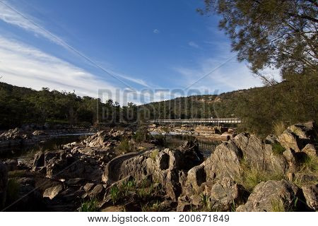 Scenic View Kalbarri National Park Against Cloudy