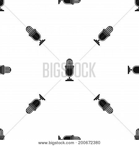 Lighting equipment pattern repeat seamless in black color for any design. Vector geometric illustration