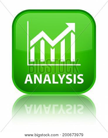 Analysis (statistics Icon) Special Green Square Button