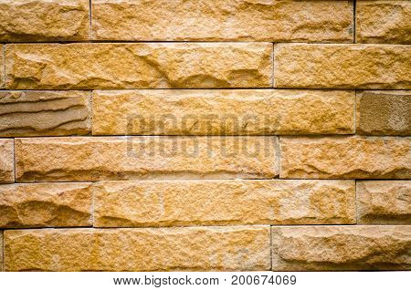 Texture of brown brick wall surface background