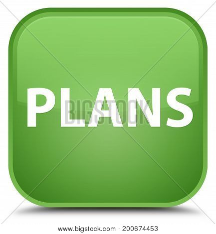 Plans Special Soft Green Square Button