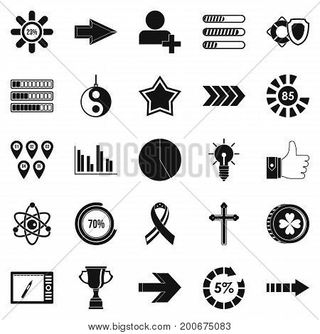 Detector icons set. Simple set of 25 detector vector icons for web isolated on white background