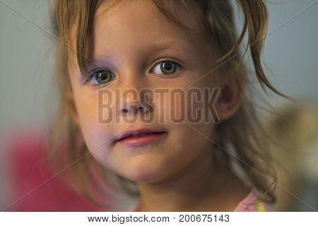 portrait beauty little girl face