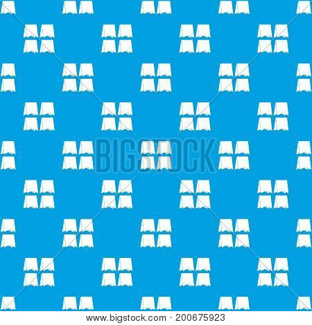 Pennants pattern repeat seamless in blue color for any design. Vector geometric illustration