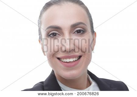 portrait of a friendly female Manager