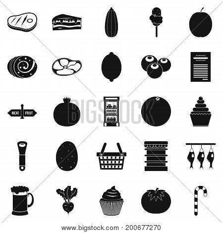 Kine icons set. Simple set of 25 kine vector icons for web isolated on white background