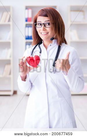 Heart doctor in telemedicine medical concept