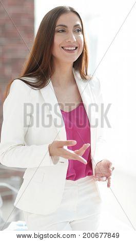 closeup.beautiful woman experienced lawyer