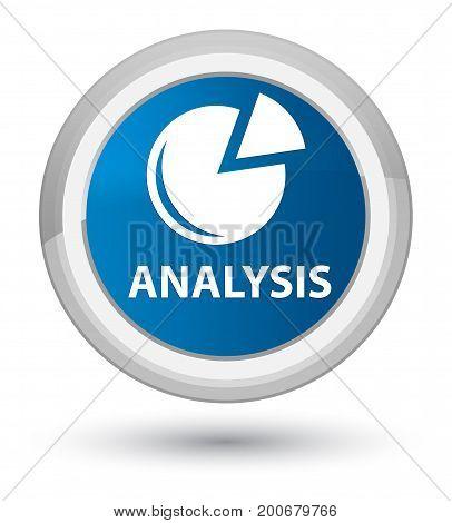 Analysis (graph Icon) Prime Blue Round Button