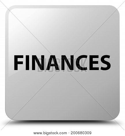 Finances White Square Button