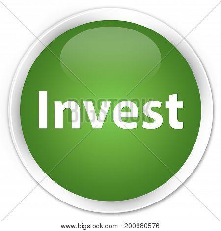 Invest Premium Soft Green Round Button