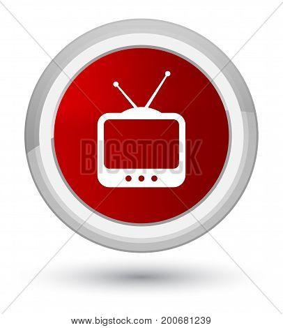 Tv  Icon Prime Red Round Button