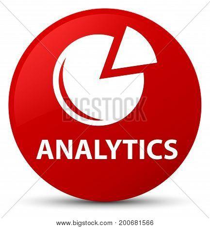 Analytics (graph Icon) Red Round Button