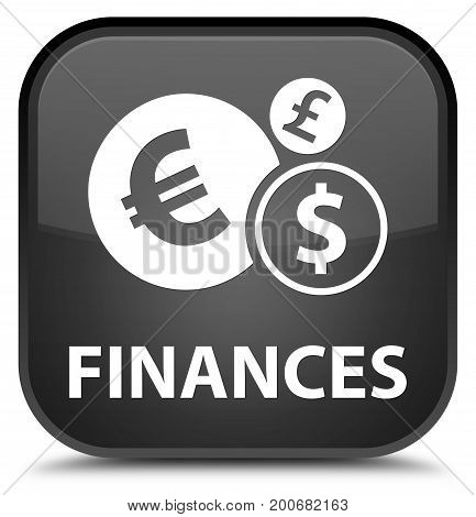 Finances (euro Sign) Special Black Square Button