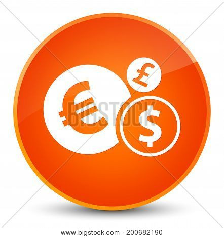 Finances Icon Elegant Orange Round Button