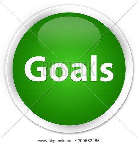 Goals Premium Green Round Button