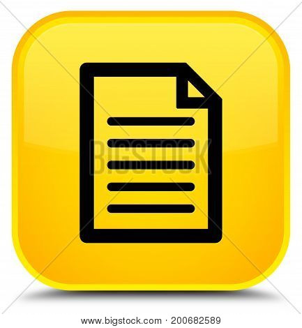Page Icon Special Yellow Square Button