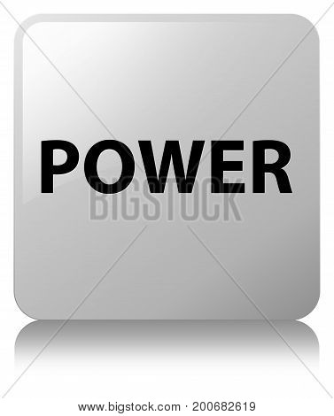 Power White Square Button