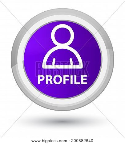 Profile (member Icon) Prime Purple Round Button