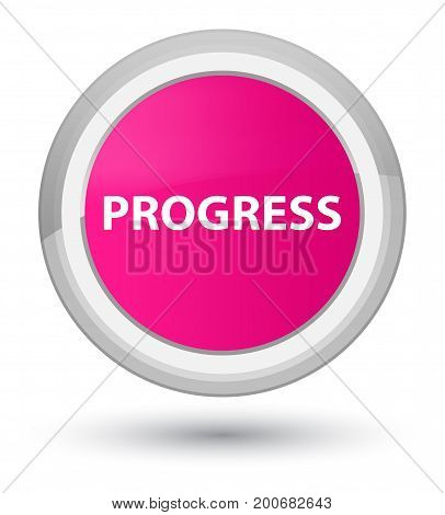 Progress Prime Pink Round Button