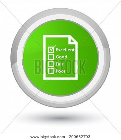 Questionnaire Icon Prime Soft Green Round Button