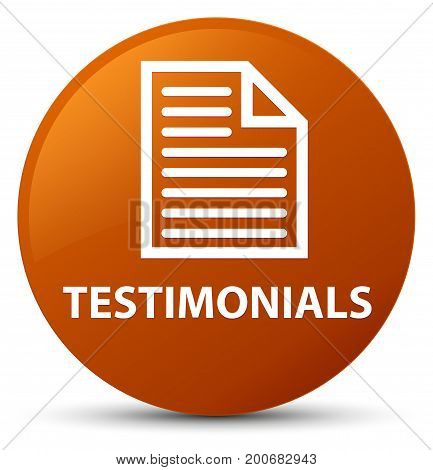 Testimonials (page Icon) Brown Round Button
