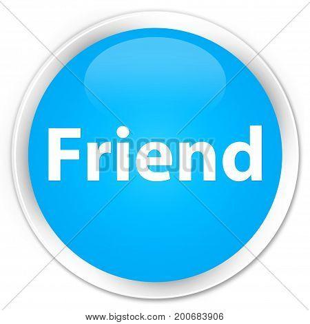 Friend Premium Cyan Blue Round Button