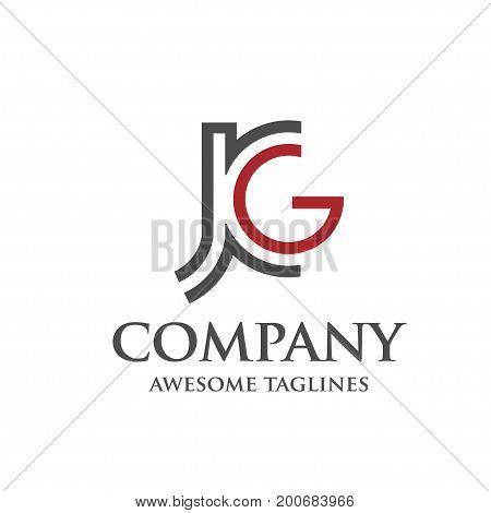 creative concept of letter J and G, J, G, Letter J,jg letter vector