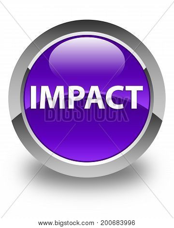 Impact Glossy Purple Round Button
