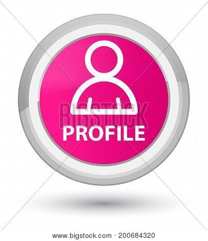 Profile (member Icon) Prime Pink Round Button