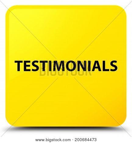 Testimonials Yellow Square Button