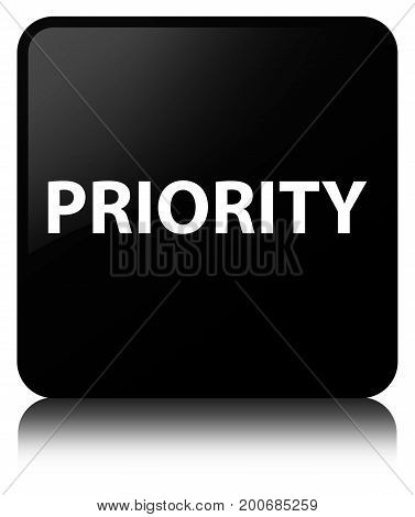 Priority Black Square Button
