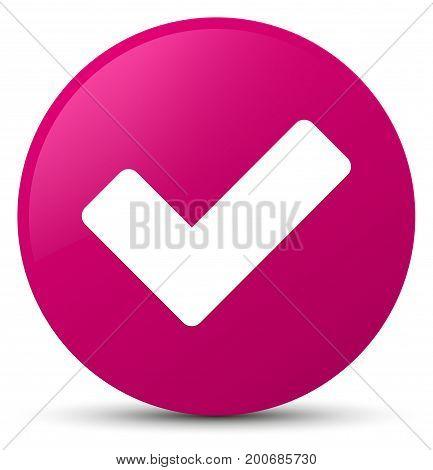 Validate Icon Pink Round Button