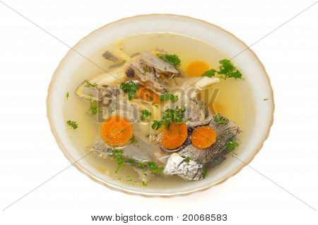 Fish Soup With Sturgeon And Leek