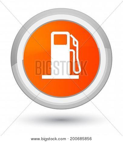 Fuel Dispenser Icon Prime Orange Round Button