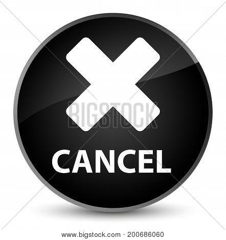 Cancel Elegant Black Round Button