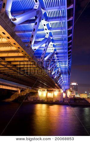 Bridge With Illuminated Close Up