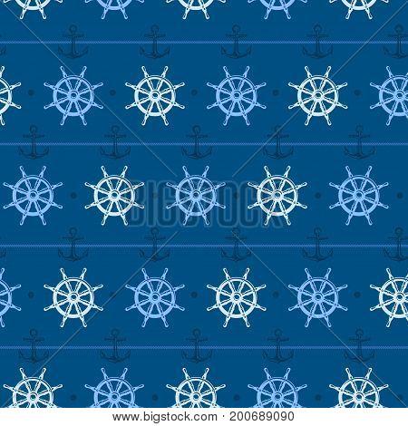 Nautical Background Steering Wheel