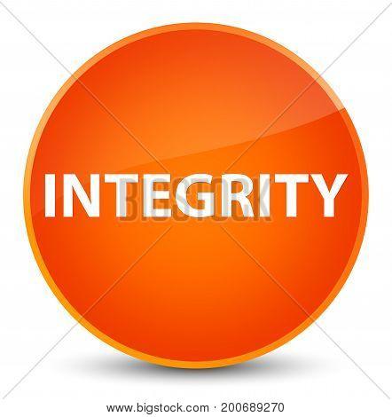 Integrity Elegant Orange Round Button