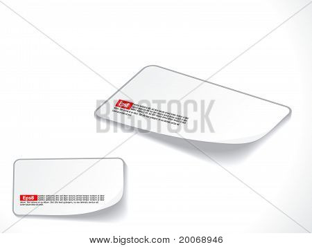 Abstract White Blank Business Card