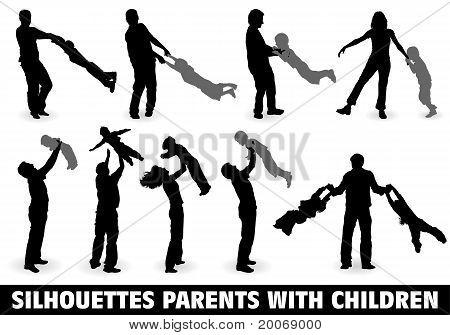 Silhouette Happy Family