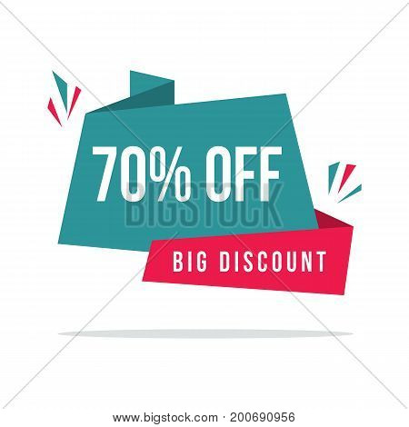 Collection stock big sale price label vector illustration